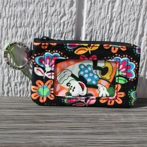 Vera Bradley Disney Zip ID Case in Midnight Mickey